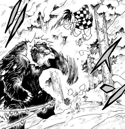 炭十郎は九尺(約270cm)の熊を瞬殺