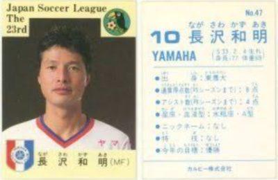 長澤まさみの父親・長澤和明の現役サッカー選手時代の写真