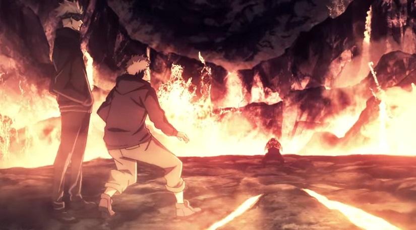 漏瑚の領域展開「蓋棺鉄囲山(がいかんてっちせん)」のアニメ版