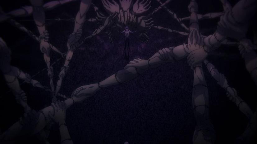 真人の領域展開「自閉円頓裹(じへいえんどんか)」のアニメ版
