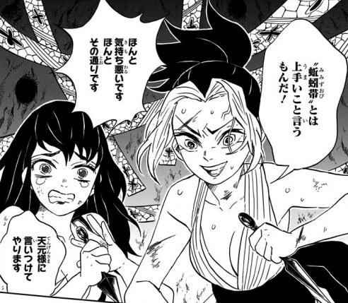 蚯蚓帯との戦闘(漫画9巻の第79話)