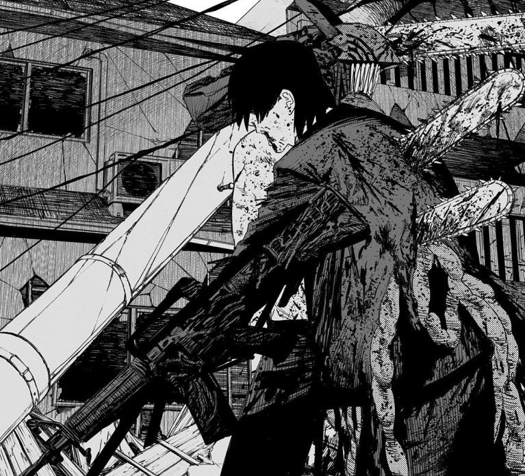 デンジがアキを殺して凶行を止める(漫画9巻の第79話)