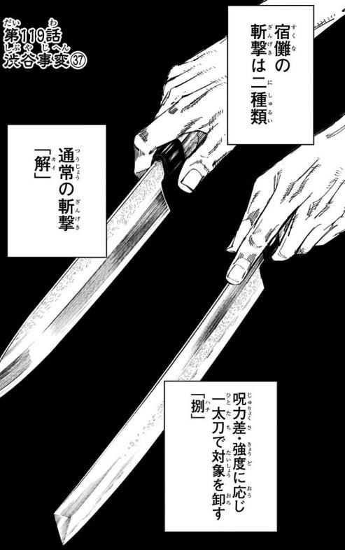 【呪術廻戦】宿儺(すくな)の斬撃の術式「解」「捌」