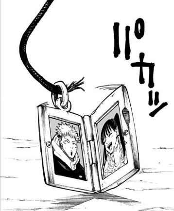 東堂葵の気持ち悪いシーン:ペンダントに虎杖悠仁と高田ちゃんの写真