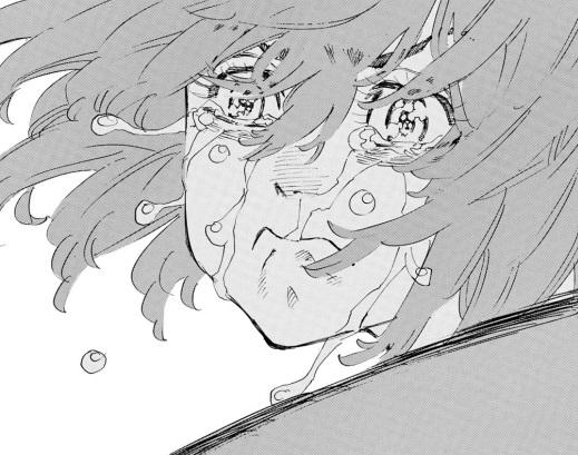 ヒナタ(橘日向)のかわいいシーン:号泣しながらマウントポジションで猛ラッシュ(11巻の第91話)