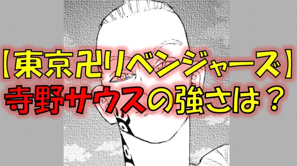 東京リベンジャーズの寺野サウスの強さは?六波羅単代の総代!