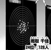 雨取千佳の固定標的狙撃の訓練は24位
